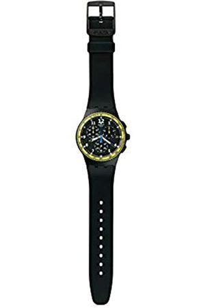 Swatch Uhren - Unisex Chronograph Quarz Uhr mit Silikon Armband SUSB404