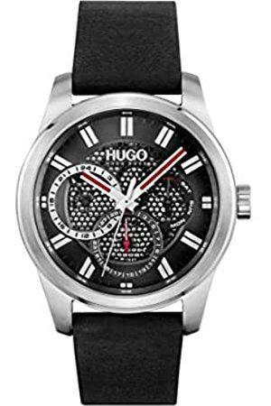 HUGO BOSS Herren Analog Quarz Uhr mit Leder Armband 1530189
