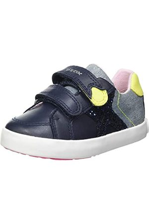 Geox Baby-Mädchen B Kilwi Girl A Sneaker, Navy/Fluo Yellow
