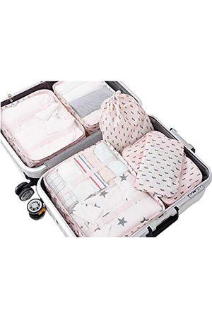 MYKJ Mayi Global Reise-Packwürfel 6-teiliges Set, Gepäckverpackung, Organizer, Packwürfel, Set für Reisen, wasserdichte Wäschebeutel, Gepäck