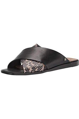 Sam Edelman Women's Idina Flat Sandal, Black/Sesame