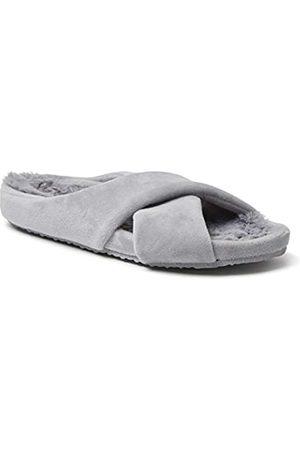 Dearfoams Damen Maeve Crossband Molded Footbed Slide Slipper
