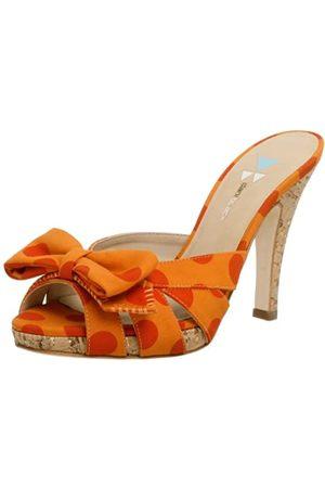 Daniblack Damen Wanda Slide, (Tangerine)