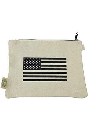 THE PEOPLES BRIGADE Patriotische USA Flagge Hanf Canvas Kleine Werkzeuge Kulturtasche Reißverschluss Tasche Herren Kosmetiktasche (USA Flagge)