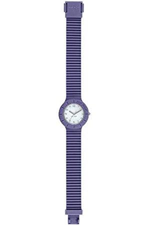 Hip Damen-Armbanduhr Numbers Collection Zifferblatt einfarbig weiß Uhrwerk nur Zeit - 3H Quarz und Silikonband lila HWU0982