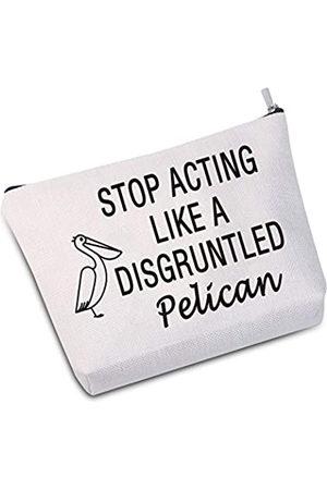 "JXGZSO Kosmetiktasche mit Pelikan-Motiv ""Stop Acting Like A Disgruntled"""