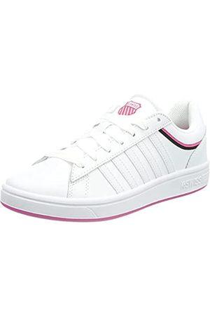 K-Swiss Damen Court Winston Sneaker, White/PINK Yarrow/Black