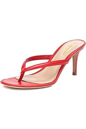 XYD Damen-Sandalen mit Zehentrenner, mittelhoher Absatz, leger, Flip-Flops, offener Zehenbereich, für den täglichen Gebrauch