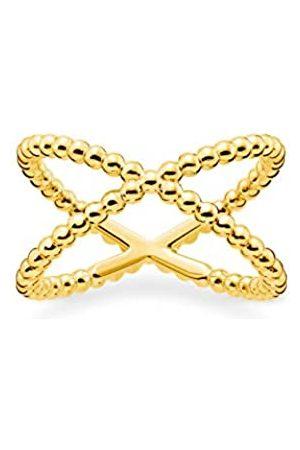 Thomas Sabo Ring, Größe 54, Glam & Soul, 925 Sterlingsilber, im Kugeldesign, vergoldet