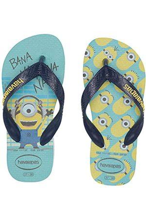 Havaianas Boy's Minions Flip-Flop, BLUE/NAVY