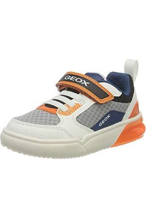 Geox J GRAYJAY Boy D Sneaker, White/