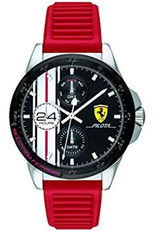 Scuderia Ferrari Herren Analog Quarz Uhr mit Silikon Armband 0830657