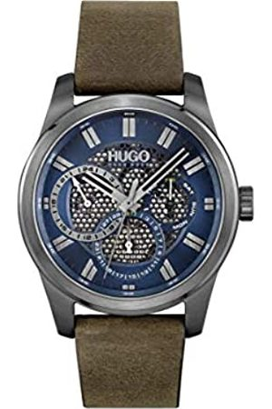 HUGO BOSS Herren Analog Quarz Uhr mit Leder Armband 1530190