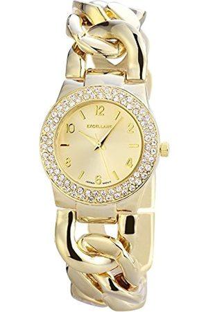 Excellanc Damen Analog Quarz Uhr mit Verschiedene Materialien Armband 150904000005