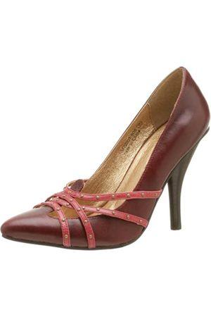 NAUGHTY MONKEY Damen Shimma Pump, Rot (burgunderfarben)