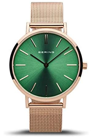 Bering Damen Analog Quarz Classic Collection Armbanduhr mit Edelstahl Armband und Saphirglas 14134-368