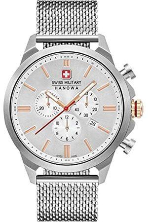 Swiss Military Hanowa Unisex Erwachsene Analog Quarz Uhr mit Edelstahl Armband 06-3332.04.001.09