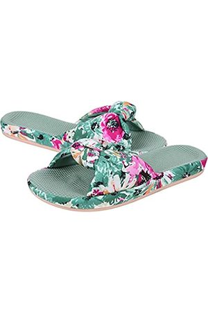 shevalues Damen Sommer Hausschuhe mit Arch Support Leichte Hawaii Beach Slide Pantoffeln Offene Zehe, Grün (Meeresschaumgrün)