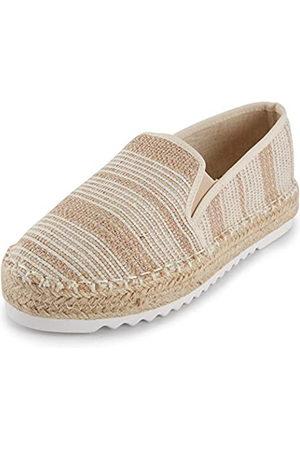 ALEXIS Damen Espadrilles Loafer Schuhe mit geschlossenem Zehenbereich, Blumenmuster, bestickt, (Stripe )