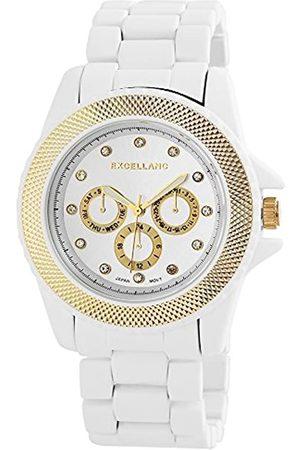 Excellanc Damen-Armbanduhr XL Analog Quarz Verschiedene Materialien 150924000011