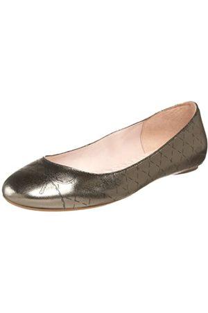 Daniblack Damen India Flat, Silber (Zinnfarben)