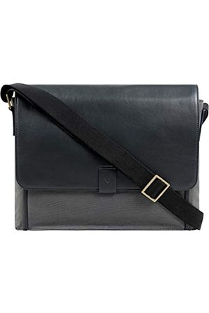 Hidesign Aiden Umhängetasche für Laptop / Business / Messenger / Business / Damen / Herren, echtes Leder, 38