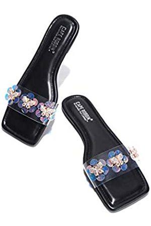 Cape Robbin Basto Jeweled Sandalen Hausschuhe Slides für Frauen, transparente Damen Pantoletten Slip On Schuhe