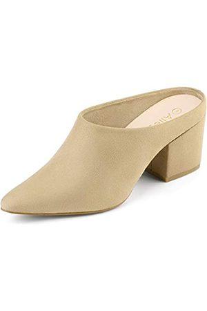 Allegra K Damen Pointed Toe Blockabsatz Slingback Pantoffeln Sandalen 38