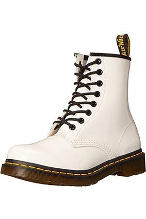 Dr. Martens 1460 Patent WHITE, Damen Combat Boots, Weiß (White)