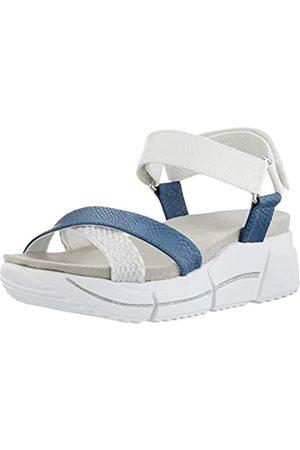 Bugatti Damen 431881816969 Flache Sandale, Reptil Druck/Mehrfarbig