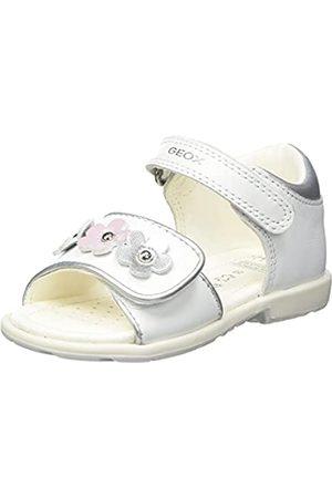 Geox Baby-Mädchen B VERRED D Flat Sandal, White