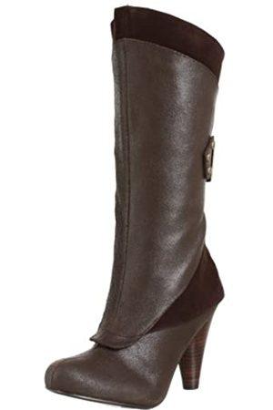 NAUGHTY MONKEY Damen Doppeldecker Stiefel, Braun (schokoladenbraun)