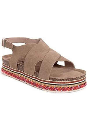 MUK LUKS Damen Women's Beach Bingo Platform Sandale