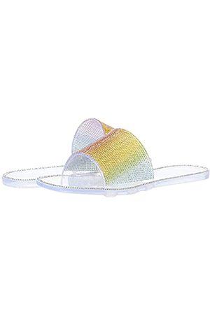 Jessica Simpson Damen Kassime Slide Schiebe-Sandalen, Transparent/Regenbogenfarben