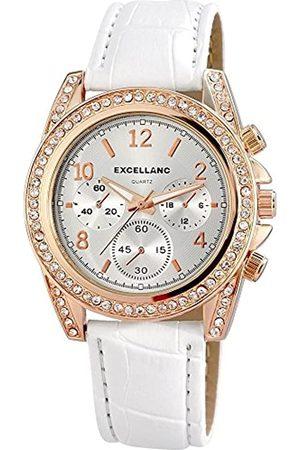 Excellanc Damen-Armbanduhr Analog Quarz Verschiedene Materialien 195632000010