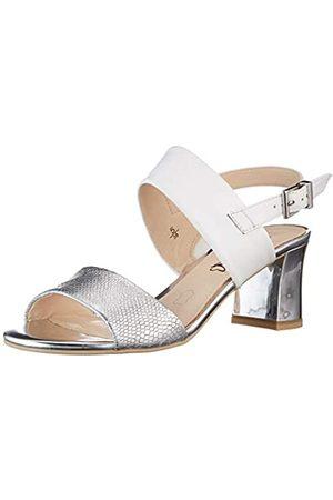 Caprice Damen 9-9-28300-26 Sandale mit Absatz, White/Silver