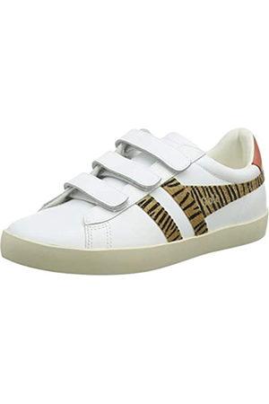 Gola Damen Nova Velcro Safari Sneaker, White/Tiger/Hot Coral