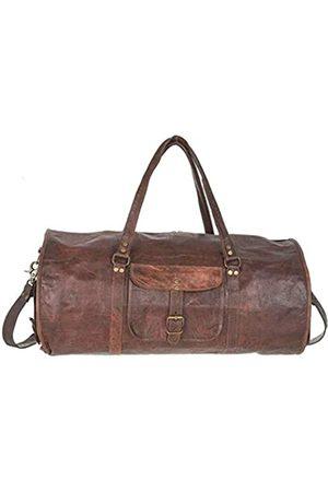 ALVYN Klassische runde Reisetasche aus Leder.