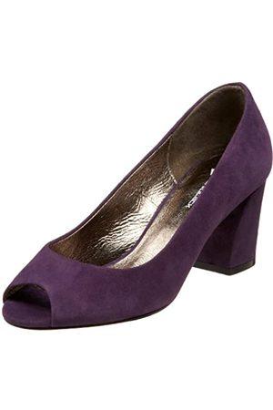 Daniblack Gemini Damen Pumps mit offenem Zehenbereich, Violett (Violettes Wildleder)