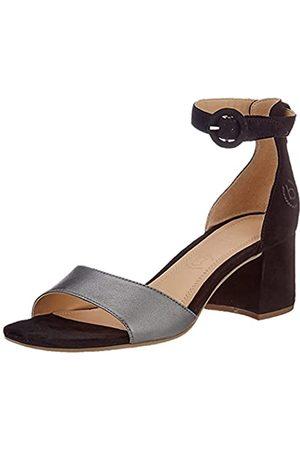 Bugatti Damen 411679854934 Sandale mit Absatz, Metallics/Black