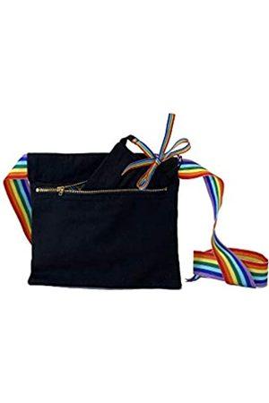 KIKS Design Co Zippy Gürteltasche mit Reißverschluss, zum Binden an der Taille, als Umhängetasche, Handyhalter, Gürteltasche, Reisen, Unisex, Mehrere (regenbogenfarben)