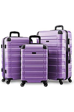Hipack Reisetaschen - Travel Prime Koffer Hardside Gepäck mit Spinnrollen