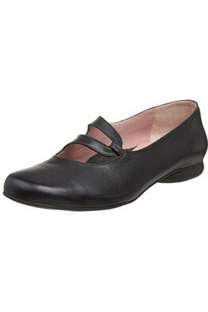 BeautiFeel Damen Pivot Flat, Schwarz (schwarzes Leder)