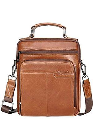 Hebetag Umhängetasche für Herren, Leder, Business Pack, (#12braun)