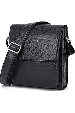 Augus Umhängetasche aus Leder für Herren, für Arbeit, Business, Vintage, Magnetschnalle, große Kapazität