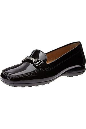 Geox Damen Weuro54 Slip-On Loafer, Schwarz (schwarzer Lack)
