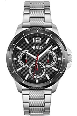 HUGO BOSS Herren Analog Quarz Uhr mit Edelstahl Armband 1530195