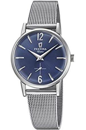 Festina Damen Analog Quarz Uhr mit Edelstahl Armband F20258/3