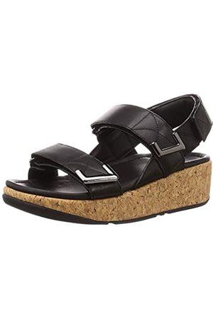 FitFlop Damen REMI Velcro Adjustable Schiebe-Sandalen, (All Black)