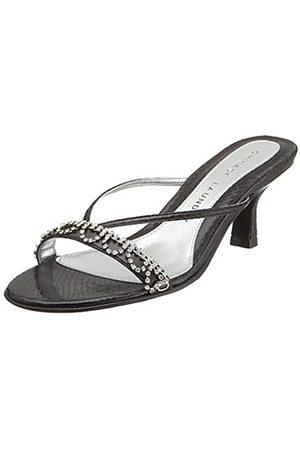 Chinese Laundry Damen Jello Kitten Heel Sandalen Black Snake 6M